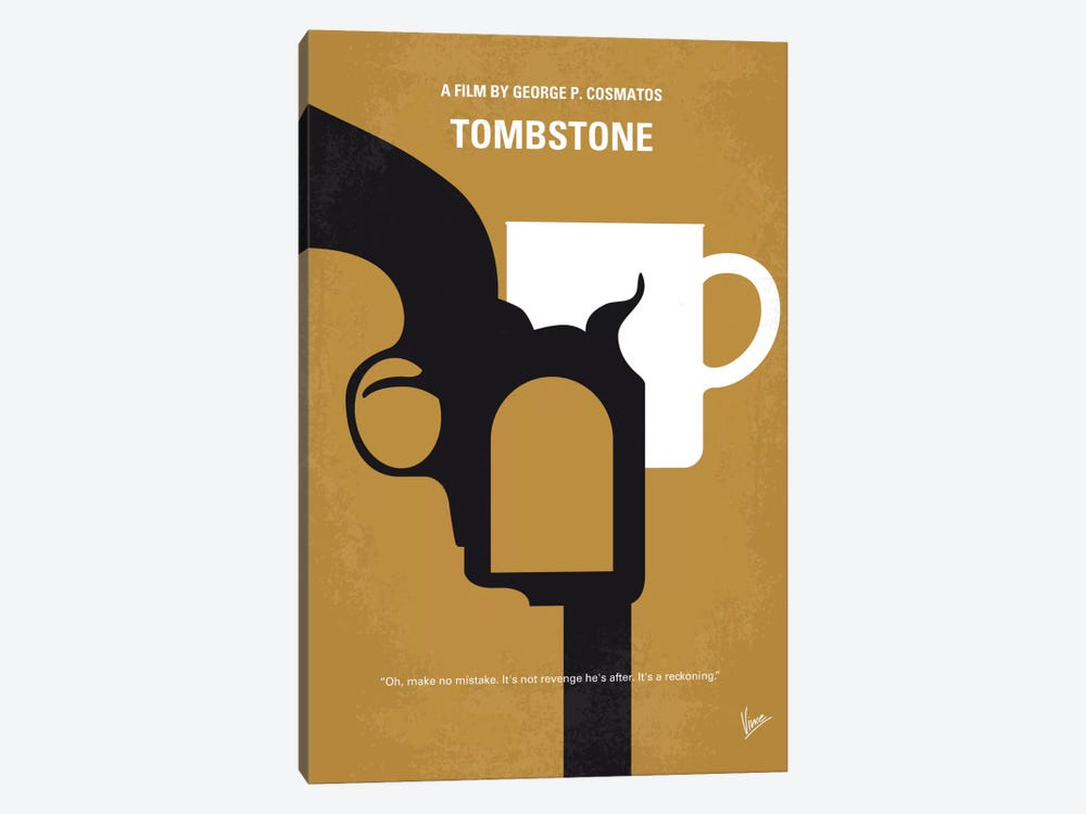 Tombstone Minimal Movie Poster by Chungkong 1-piece Canvas Art Print