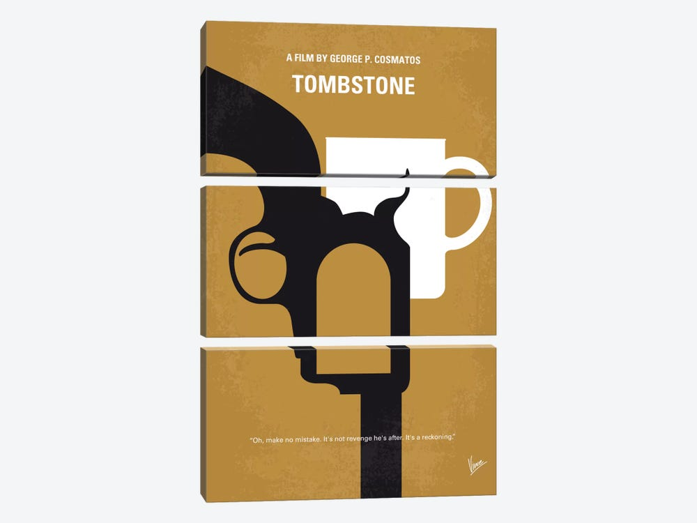 Tombstone Minimal Movie Poster by Chungkong 3-piece Art Print