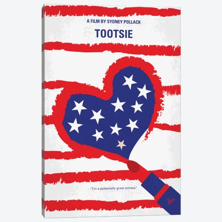 Tootsie Minimal Movie Poster Canvas Print #CKG681} by Chungkong Canvas Print