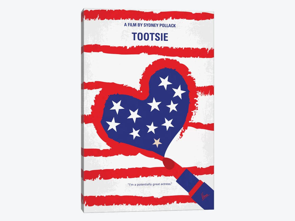 Tootsie Minimal Movie Poster by Chungkong 1-piece Canvas Art