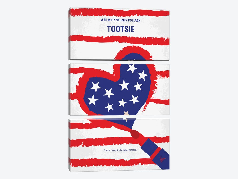 Tootsie Minimal Movie Poster by Chungkong 3-piece Canvas Wall Art