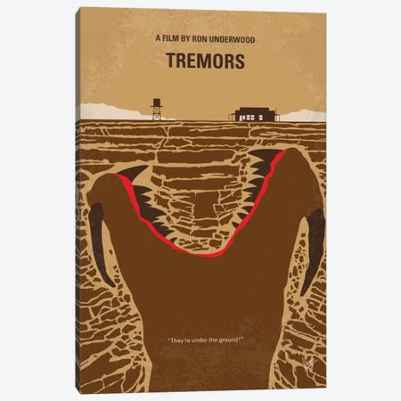 Tremors Minimal Movie Poster Canvas Print #CKG683} by Chungkong Canvas Print