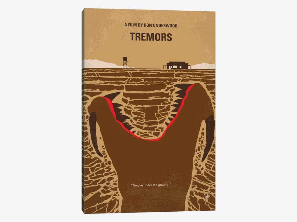 Tremors Minimal Movie Poster by Chungkong 1-piece Canvas Art
