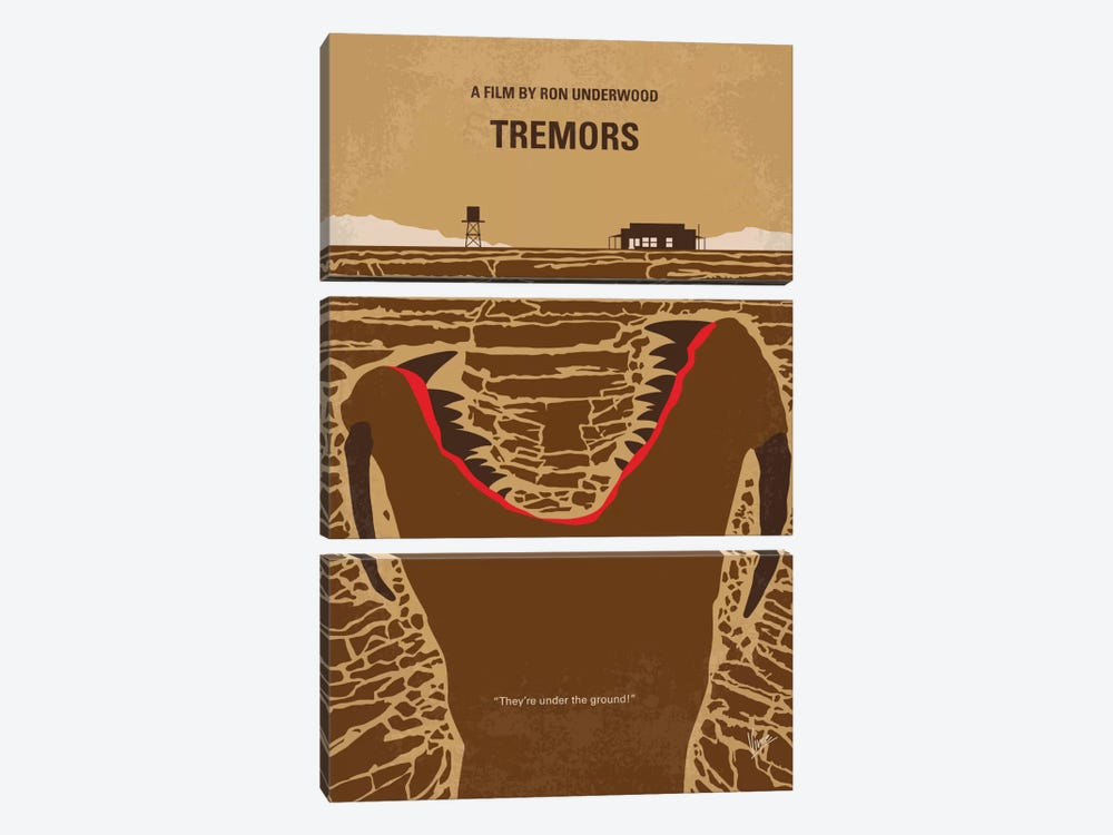 Tremors Minimal Movie Poster by Chungkong 3-piece Canvas Artwork