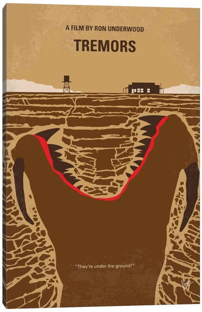 Tremors Minimal Movie Poster Canvas Art Print