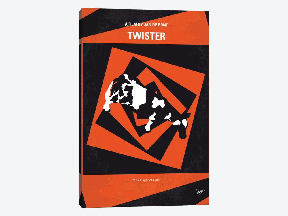 Twister Minimal Movie Poster by Chungkong 1-piece Canvas Art Print