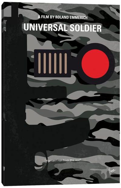 Universal Soldier Minimal Movie Poster Canvas Print #CKG685