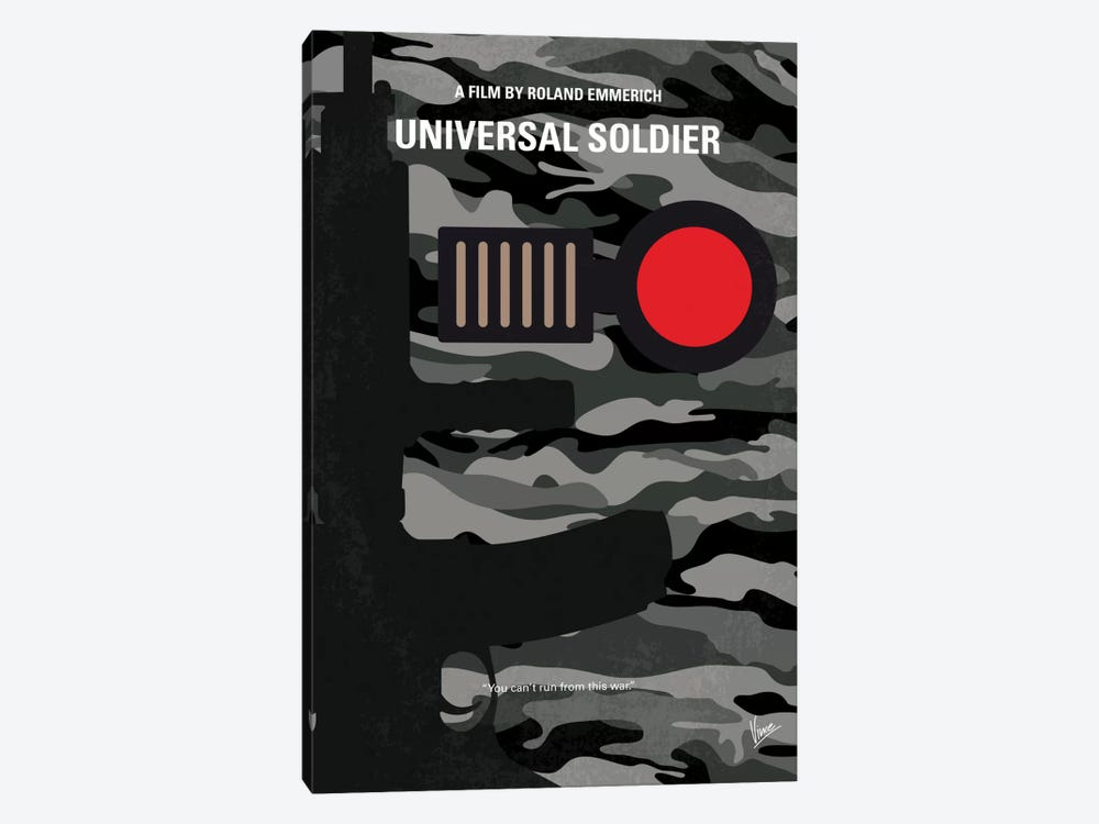 Universal Soldier Minimal Movie Poster by Chungkong 1-piece Canvas Wall Art