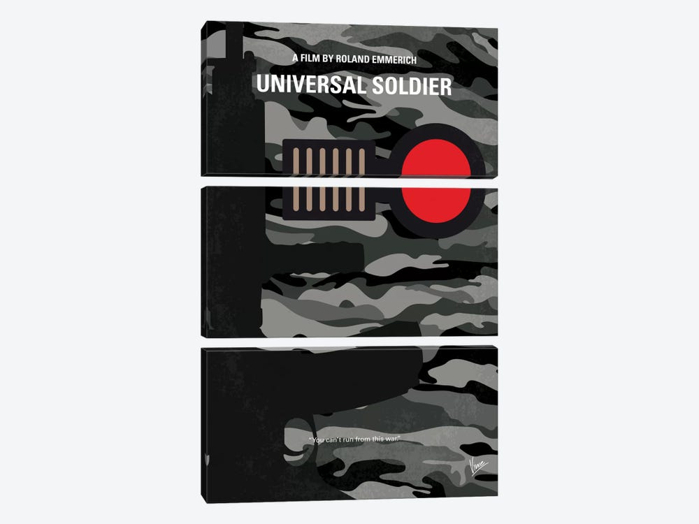 Universal Soldier Minimal Movie Poster by Chungkong 3-piece Canvas Wall Art