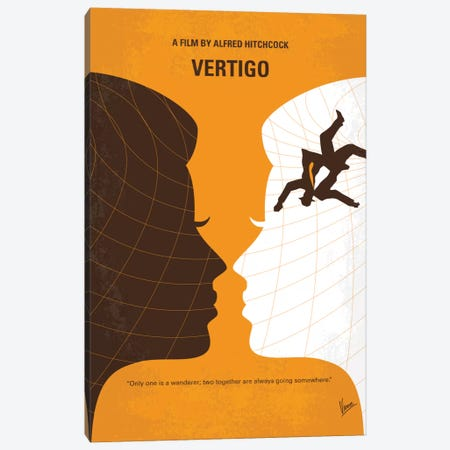 Vertigo Minimal Movie Poster Canvas Print #CKG687} by Chungkong Canvas Wall Art