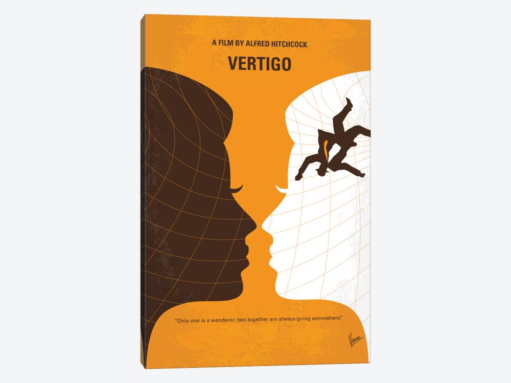 Vertigo Minimal Movie Poster by Chungkong 1-piece Canvas Wall Art