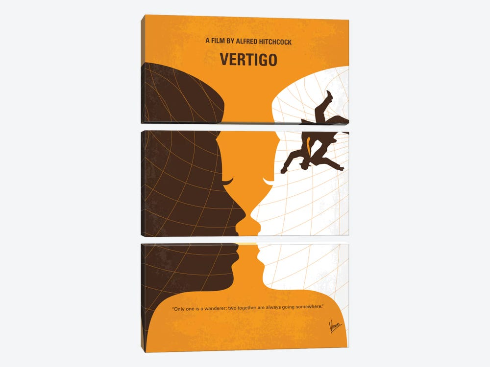 Vertigo Minimal Movie Poster by Chungkong 3-piece Canvas Wall Art