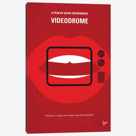 Videodrome Minimal Movie Poster Canvas Print #CKG688} by Chungkong Art Print
