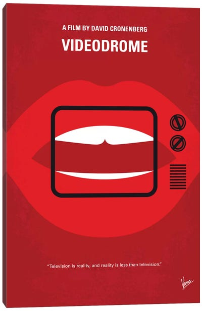 Videodrome Minimal Movie Poster Canvas Art Print