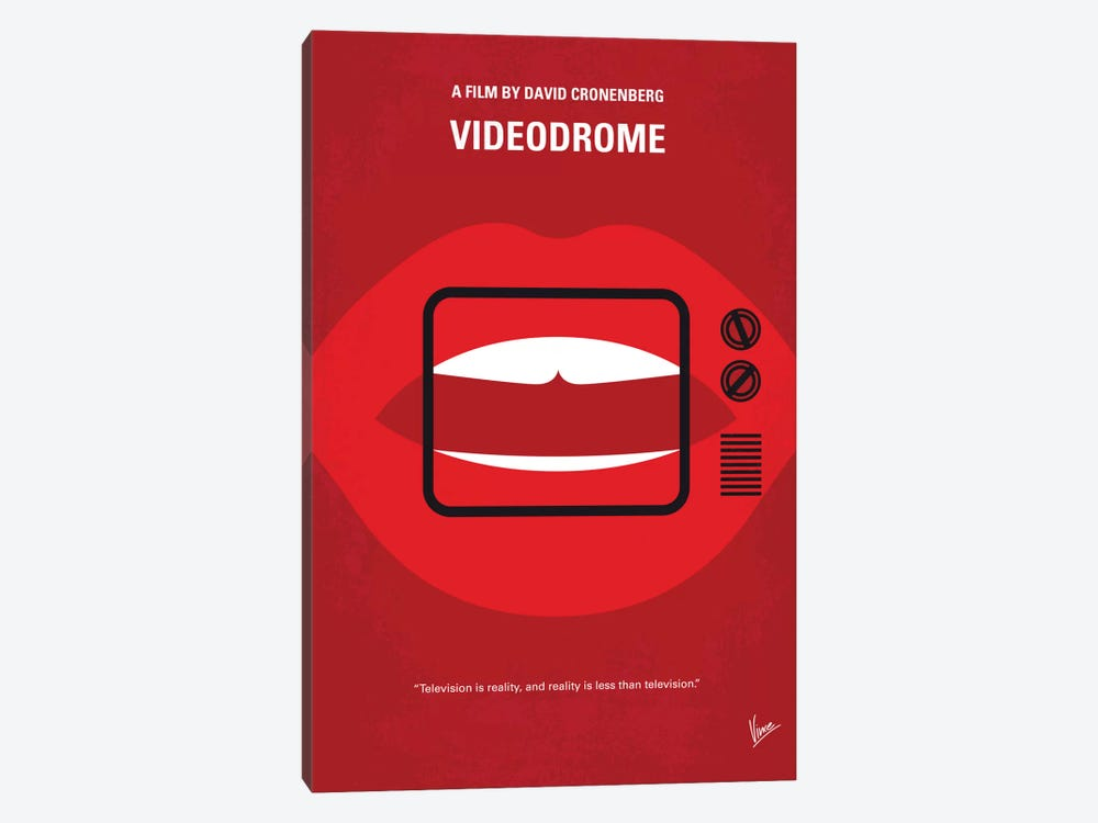 Videodrome Minimal Movie Poster by Chungkong 1-piece Canvas Print