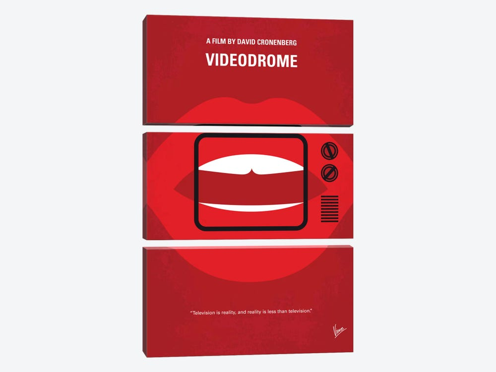 Videodrome Minimal Movie Poster by Chungkong 3-piece Canvas Art Print
