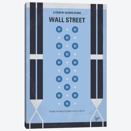 Wall street Minimal Movie Poster Canvas Print #CKG689} by Chungkong Canvas Art Print