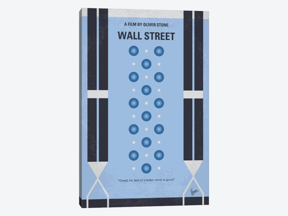 Wall street Minimal Movie Poster by Chungkong 1-piece Canvas Artwork