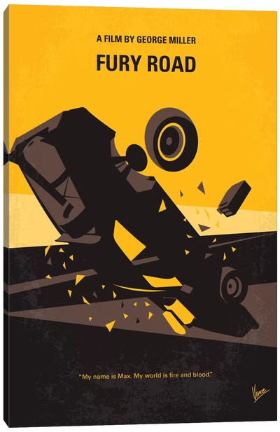 Mad Max: Fury Road Minimal Movie Poster Canvas Art Print