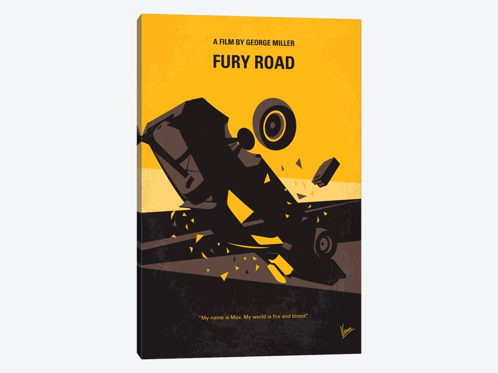 Mad Max: Fury Road Minimal Movie Poster by Chungkong 1-piece Canvas Print