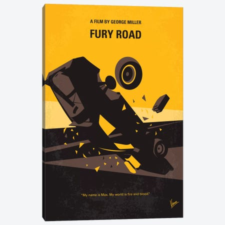 Mad Max: Fury Road Minimal Movie Poster Canvas Print #CKG68} by Chungkong Canvas Art Print