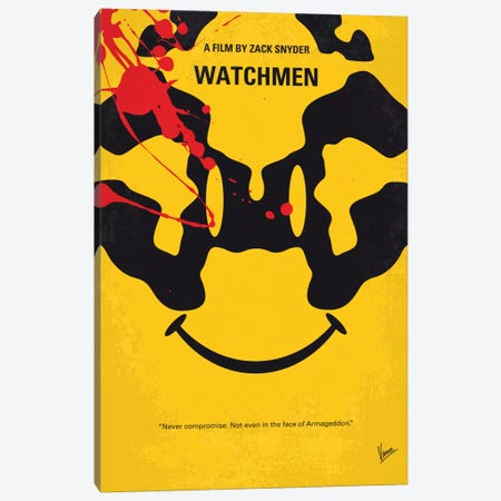 Watchmen Minimal Movie Poster Canvas Print #CKG690} by Chungkong Canvas Art