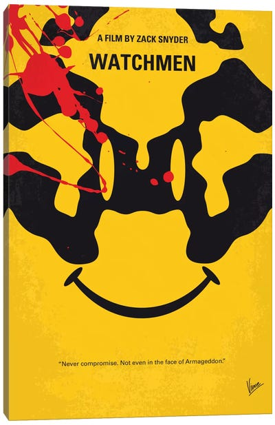 Watchmen Minimal Movie Poster Canvas Art Print