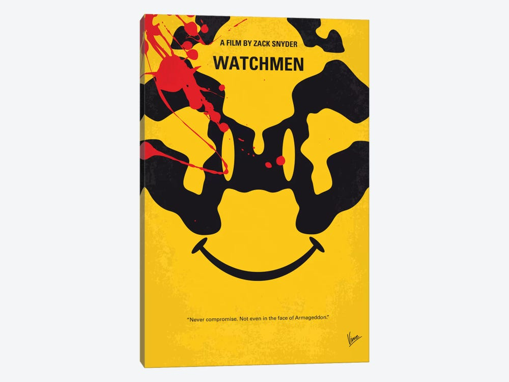 Watchmen Minimal Movie Poster by Chungkong 1-piece Canvas Art