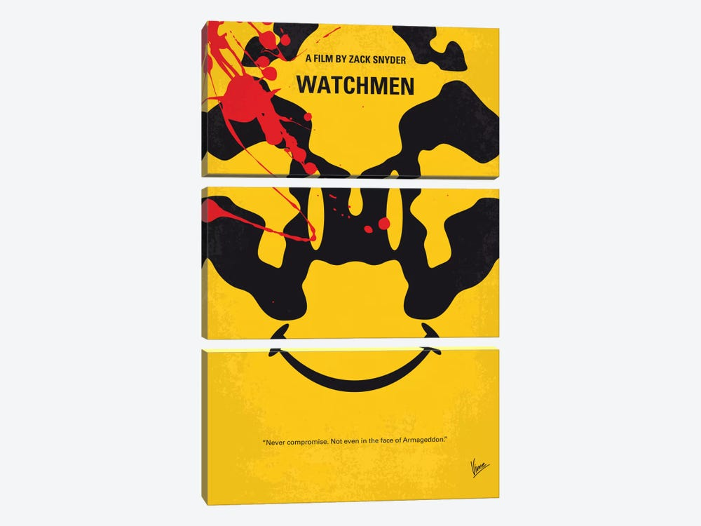 Watchmen Minimal Movie Poster by Chungkong 3-piece Canvas Artwork