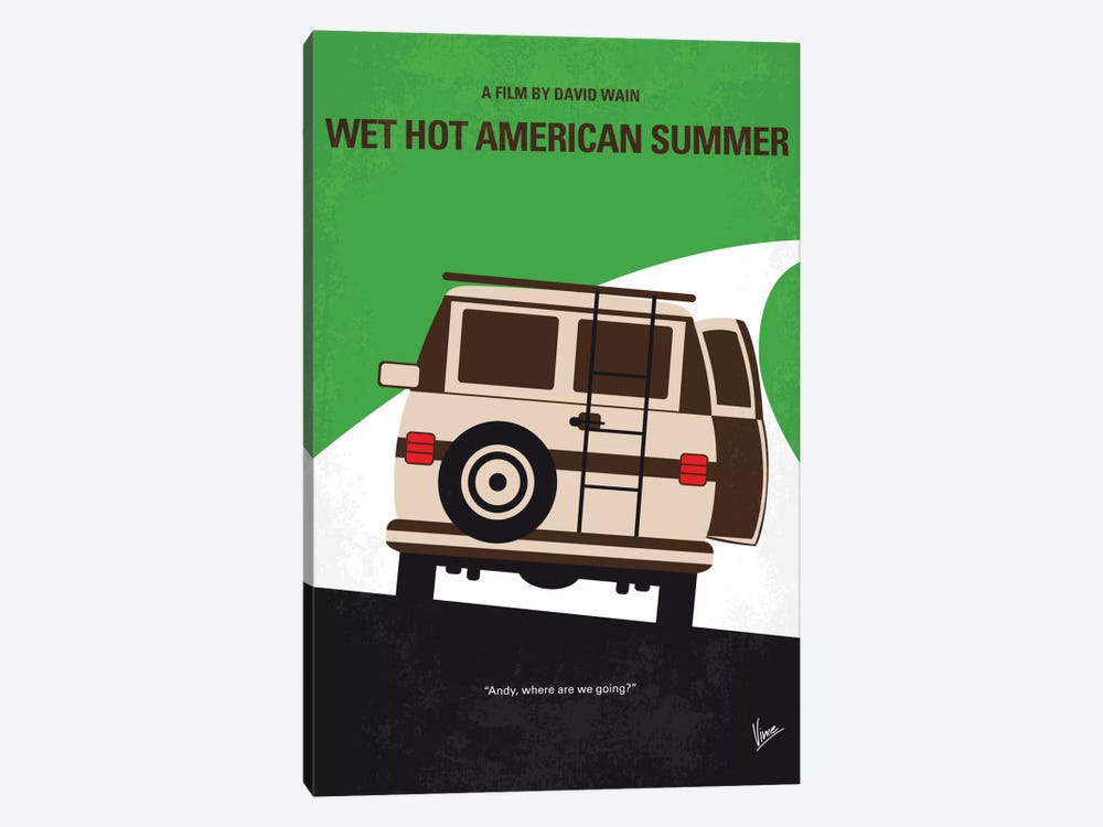 Wet Hot American Summer Minimal Movie Poster 1-piece Canvas Print