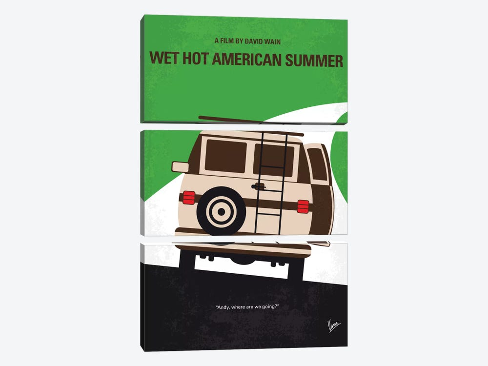 Wet Hot American Summer Minimal Movie Poster 3-piece Canvas Print