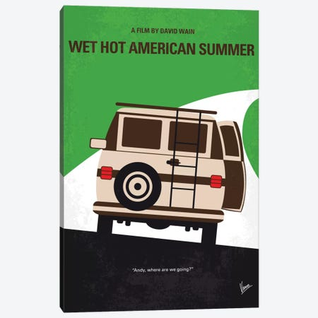 Wet Hot American Summer Minimal Movie Poster Canvas Print #CKG691} by Chungkong Canvas Art