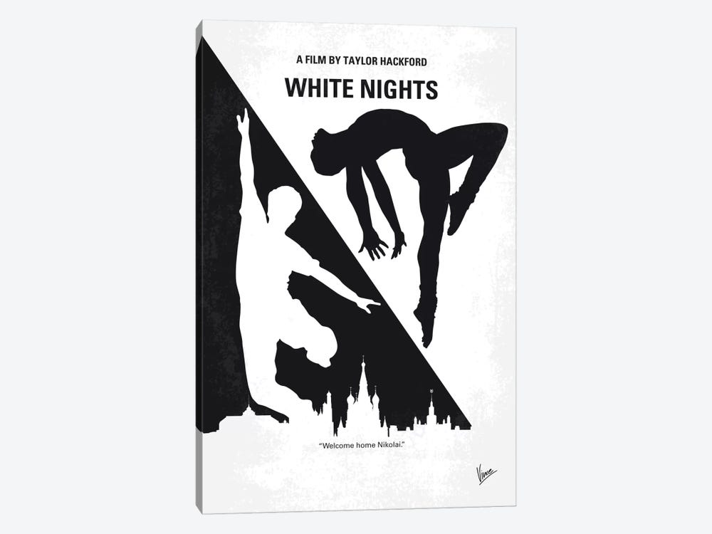 White Nights Minimal Movie Poster by Chungkong 1-piece Canvas Artwork