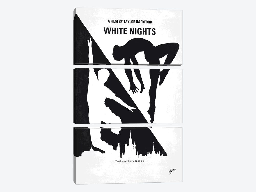 White Nights Minimal Movie Poster by Chungkong 3-piece Canvas Wall Art