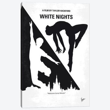 White Nights Minimal Movie Poster Canvas Print #CKG692} by Chungkong Canvas Artwork