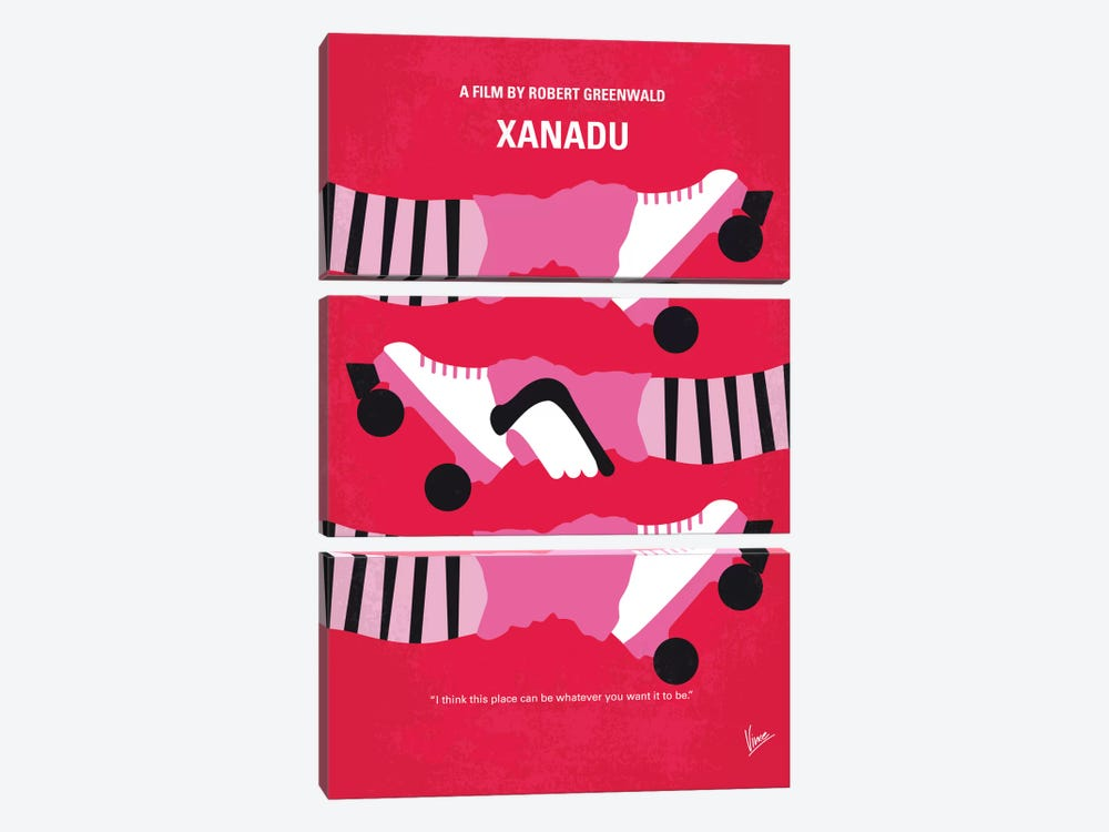 Xanadu Minimal Movie Poster by Chungkong 3-piece Canvas Artwork