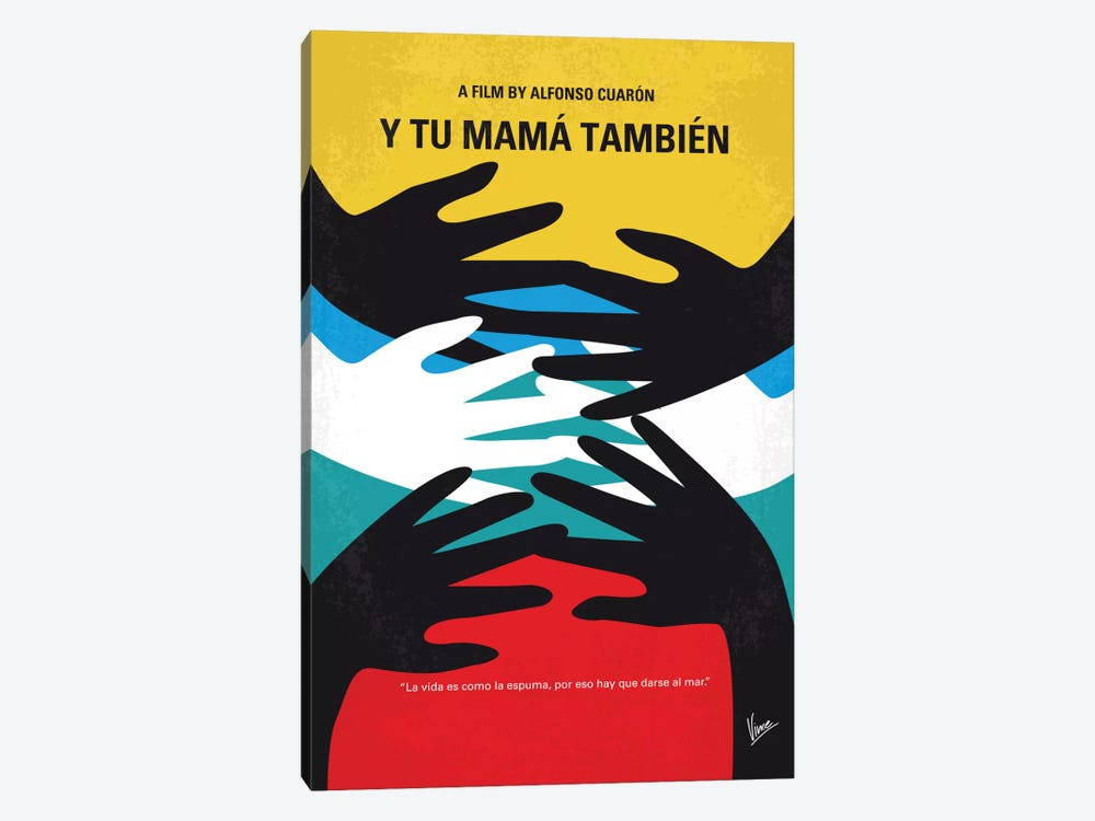 Y Tu Mama Tambien Minimal Movie Poster by Chungkong 1-piece Canvas Print