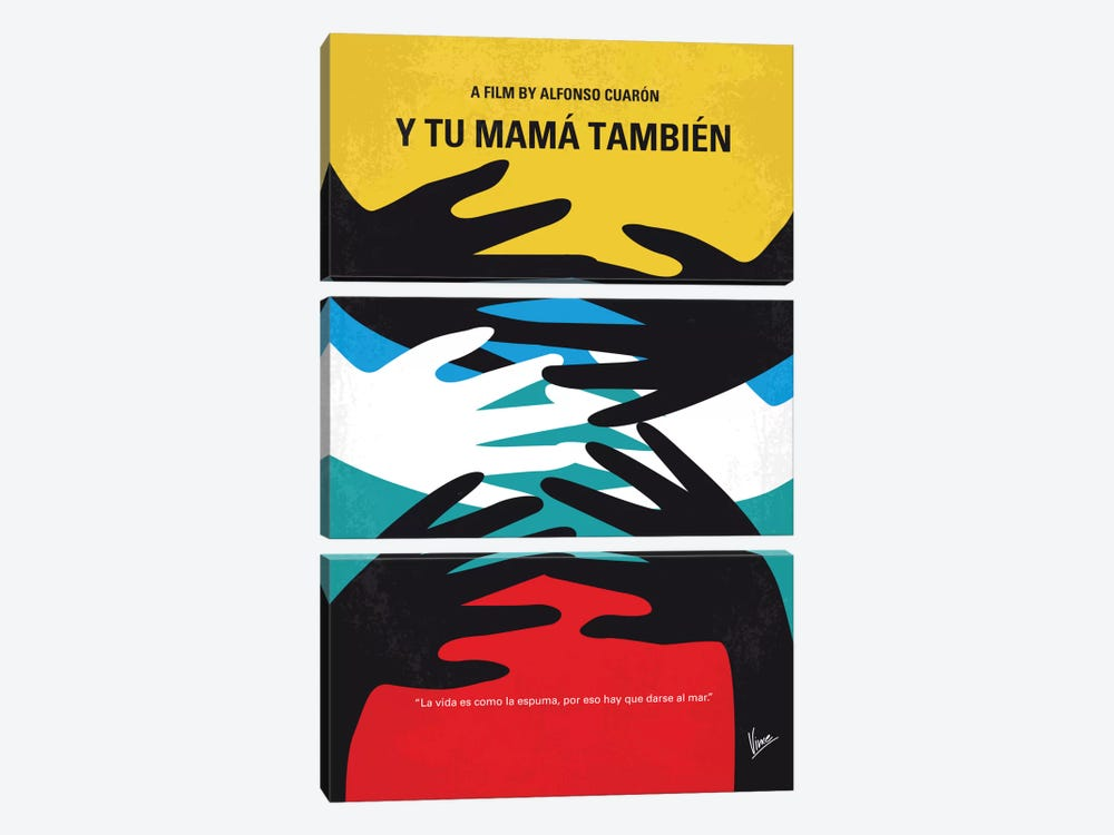 Y Tu Mama Tambien Minimal Movie Poster by Chungkong 3-piece Canvas Art Print