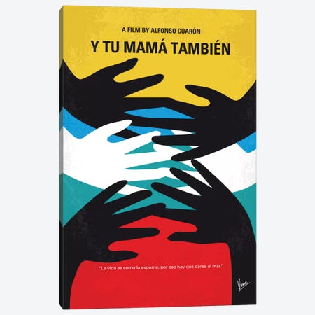 Y Tu Mama Tambien Minimal Movie Poster Canvas Print #CKG695} by Chungkong Canvas Print