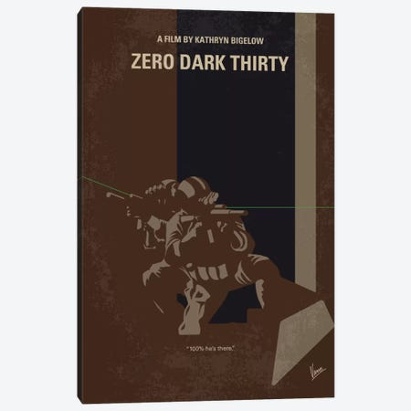 Zero Dark Thirty Minimal Movie Poster Canvas Print #CKG696} by Chungkong Canvas Art Print