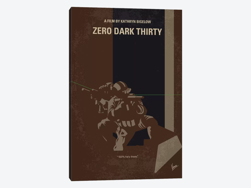 Zero Dark Thirty Minimal Movie Poster by Chungkong 1-piece Canvas Art