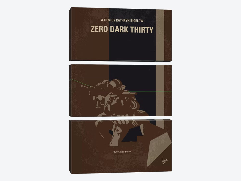Zero Dark Thirty Minimal Movie Poster by Chungkong 3-piece Canvas Wall Art