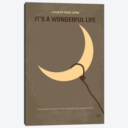 It's A Wonderful Life Minimal Movie Poster Canvas Print #CKG697} by Chungkong Canvas Art Print