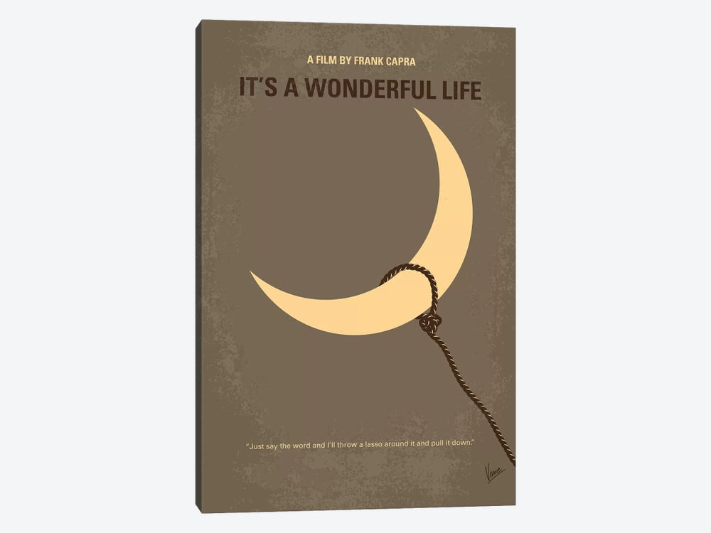 It's A Wonderful Life Minimal Movie Poster by Chungkong 1-piece Canvas Art Print
