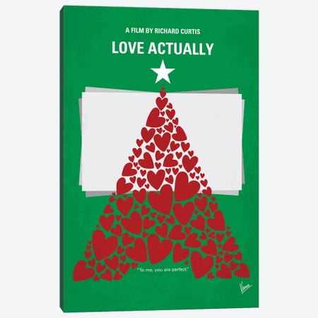 Love Actually Minimal Movie Poster Canvas Print #CKG698} by Chungkong Canvas Art