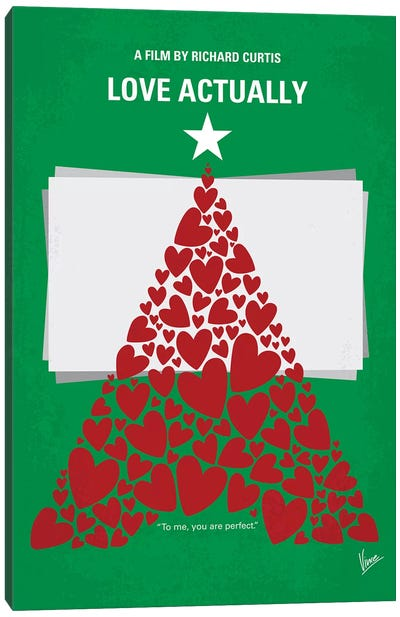 Love Actually Minimal Movie Poster Canvas Art Print