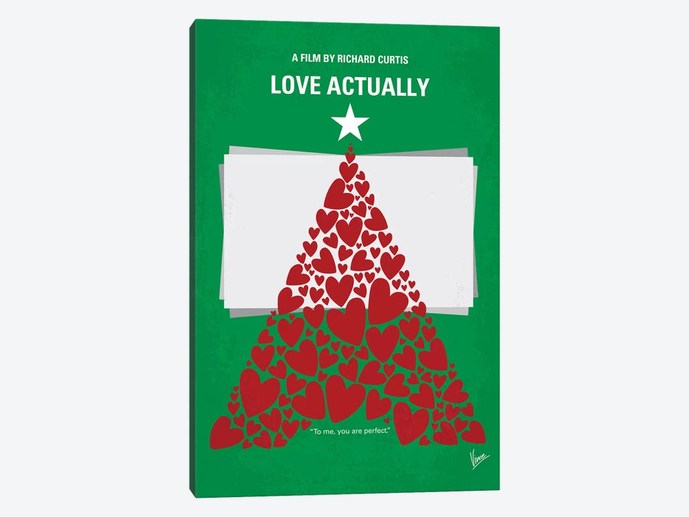 Love Actually Minimal Movie Poster by Chungkong 1-piece Canvas Wall Art
