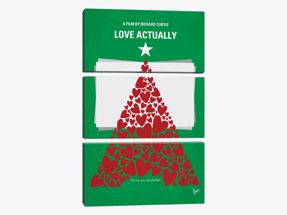 Love Actually Minimal Movie Poster by Chungkong 3-piece Canvas Art