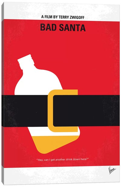 Bad Santa Minimal Movie Poster Canvas Art Print