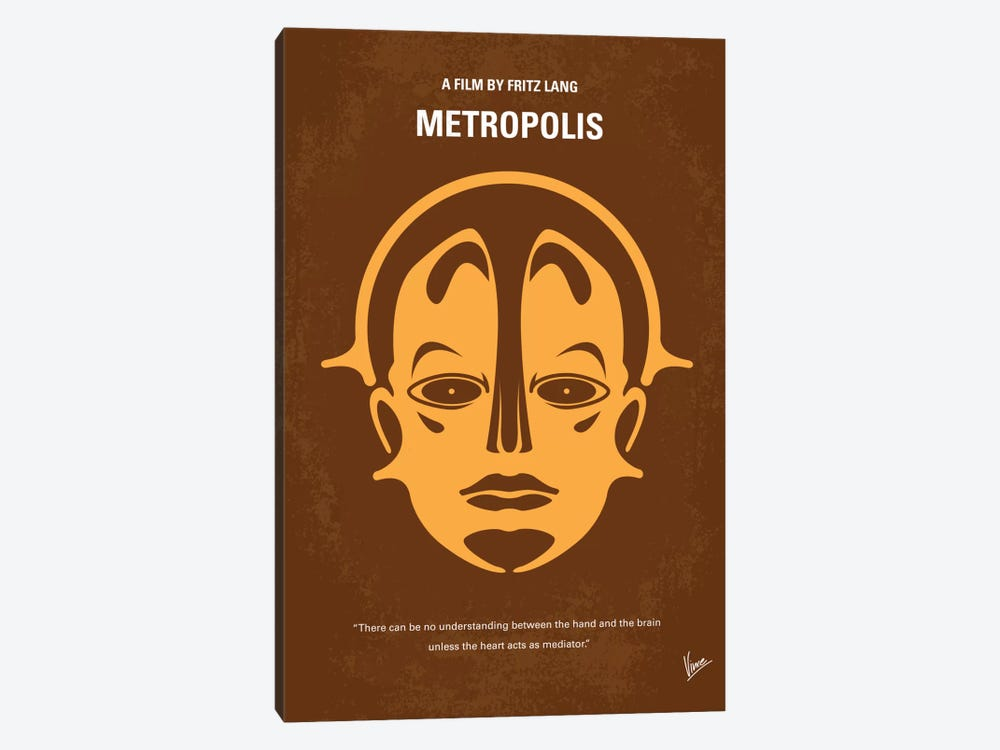 Metropolis Minimal Movie Poster by Chungkong 1-piece Canvas Art